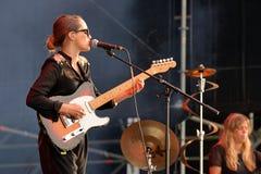 Απόδοση της Anna Calvi στο φεστιβάλ Dcode Στοκ Φωτογραφία