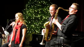Απόδοση της Jazz Χριστουγέννων απόθεμα βίντεο