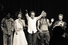 Απόδοση Di PolonΠράσινου Ακρωτηρίου του «Raiz» θεάτρων χορού μαύρο λευκό Στοκ Εικόνα