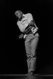 Απόδοση Di PolonΠράσινου Ακρωτηρίου του «Raiz» θεάτρων χορού μαύρο λευκό Στοκ Εικόνες