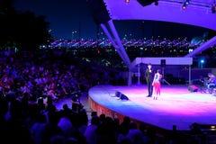 Απόδοση Esplanade στο υπαίθριο θέατρο Σιγκαπούρη Στοκ Φωτογραφίες