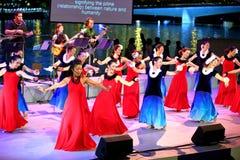 Απόδοση Esplanade στο υπαίθριο θέατρο Σιγκαπούρη Στοκ φωτογραφία με δικαίωμα ελεύθερης χρήσης