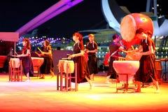 Απόδοση Esplanade στο υπαίθριο θέατρο Σιγκαπούρη Στοκ φωτογραφίες με δικαίωμα ελεύθερης χρήσης