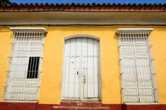 Από τα αποικιακά υπολείμματα για τα ισπανικά κτήρια στην Κούβα στην πόλη του Τρινιδάδ Στοκ εικόνα με δικαίωμα ελεύθερης χρήσης