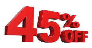 45 από τα τοις εκατό Στοκ φωτογραφία με δικαίωμα ελεύθερης χρήσης