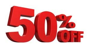 50 από τα τοις εκατό Στοκ φωτογραφία με δικαίωμα ελεύθερης χρήσης