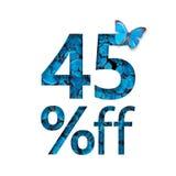 45% από την έκπτωση Η έννοια της άνοιξη ή sammer της πώλησης, μοντέρνη αφίσα, έμβλημα, προώθηση, αγγελίες Στοκ Φωτογραφίες