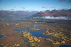 από την Αλάσκα τοπίο πτώσης Στοκ Εικόνα