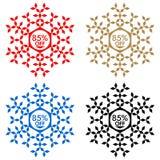 85 από την αυτοκόλλητη ετικέττα έκπτωσης Snowflake 85 από την πώληση Στοκ εικόνα με δικαίωμα ελεύθερης χρήσης