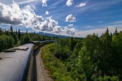 από την Αλάσκα τραίνο Στοκ Εικόνα