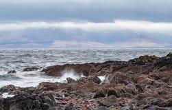 Από την παραλία σε Seamill στα βουνά Arran Στοκ Φωτογραφία