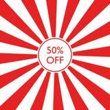 50% από την πώληση Στοκ εικόνα με δικαίωμα ελεύθερης χρήσης