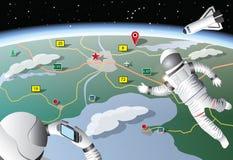 Από τη διαστημική φωτογραφία Στοκ εικόνα με δικαίωμα ελεύθερης χρήσης