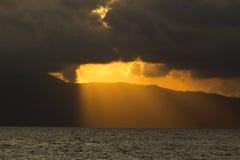 Από τη Λιγουρία ηλιοβασίλεμα Στοκ εικόνα με δικαίωμα ελεύθερης χρήσης