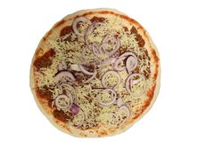 Από τη Μπολώνια πίτσα πίτσα unbaked Από τη Μπολώνια σάλτσα στην πίτσα Στοκ Φωτογραφίες