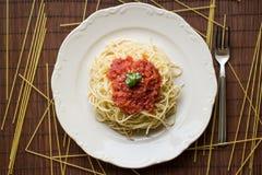 Από τη Μπολώνια/ιταλικά τρόφιμα μακαρονιών στοκ εικόνες με δικαίωμα ελεύθερης χρήσης