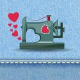 Από τη ράβοντας μηχανή με την αγάπη διανυσματική απεικόνιση