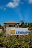 Από το δρόμο στο θέρετρο Playa Paraiso στους κοκοφοίνικες Cayo, Κούβα στοκ φωτογραφίες με δικαίωμα ελεύθερης χρήσης