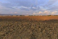 Από το καλλιεργημένο έδαφος στα περιθώρια της Βουλγαρίας Στοκ Φωτογραφίες