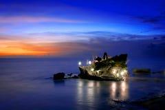 Από το Μπαλί ναός στο ηλιοβασίλεμα - μέρος Μπαλί Tanah Στοκ φωτογραφίες με δικαίωμα ελεύθερης χρήσης
