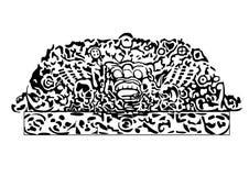Από το Μπαλί σχέδιο γραμματοσήμων Στοκ Εικόνα
