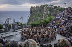 από το Μπαλί uluwatu ναών χορού το&upsilon Στοκ Φωτογραφία