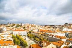 Από Elevador de Santa Justa, Λισσαβώνα στοκ φωτογραφίες