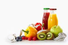 Απώλεια βάρους και υγιής έννοια διατροφής στοκ εικόνες
