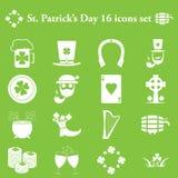 Απλά εικονίδια ημέρας του ST Patricks καθορισμένα Στοκ Εικόνα