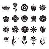 Απλά εικονίδια λουλουδιών καθορισμένα Καθολικό εικονίδιο στη χρήση για τον Ιστό Στοκ φωτογραφία με δικαίωμα ελεύθερης χρήσης