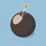 Απλά εικονίδιο βομβών Στοκ Φωτογραφίες