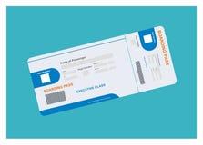 Απλή απεικόνιση εισιτηρίων αεροπλάνων Στοκ φωτογραφίες με δικαίωμα ελεύθερης χρήσης