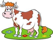 Ευτυχής αγελάδα Στοκ εικόνες με δικαίωμα ελεύθερης χρήσης