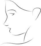 Απλή γυναίκα σκιαγραφιών Στοκ Εικόνες