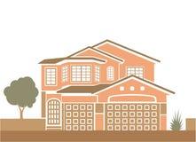 Απλή ενιαία οικογενειακή κατοικία διανυσματική απεικόνιση