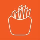 Απλή διανυσματική απεικόνιση εικονιδίων τηγανητών Στοκ Εικόνες