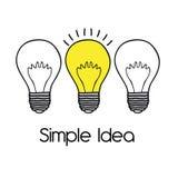 Απλή ιδέα ελεύθερη απεικόνιση δικαιώματος