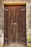 Απλή ξύλινη πόρτα Στοκ φωτογραφία με δικαίωμα ελεύθερης χρήσης