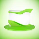 Απλή πράσινη επαγγελματική κάρτα Στοκ Εικόνες
