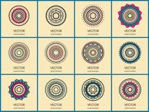 Απλή συλλογή mandalas Στοκ Εικόνα