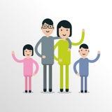 Απλοί επίπεδοι οικογενειακοί χαρακτήρες Στοκ Εικόνες