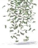 Απλοί επιχειρηματίες - νικηφορόρη βροχή χρημάτων Στοκ εικόνα με δικαίωμα ελεύθερης χρήσης