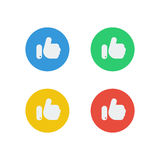 Απλός όπως τα εικονίδια των κοινωνικών μέσων με τέσσερα χρώματα Στοκ Εικόνες