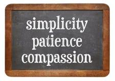 Απλότητα, υπομονή και οίκτος στοκ εικόνα με δικαίωμα ελεύθερης χρήσης