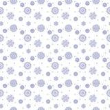 Απλό άνευ ραφής σχέδιο με snowflakes Στοκ φωτογραφία με δικαίωμα ελεύθερης χρήσης