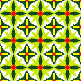 Απλό άνευ ραφής σχέδιο των εξωτικών πράσινων φύλλων Στοκ Εικόνες