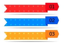 Απλό έμβλημα σε τρία χρώματα Στοκ φωτογραφία με δικαίωμα ελεύθερης χρήσης