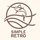 Απλό αναδρομικό πρότυπο λογότυπων Ελεύθερη απεικόνιση δικαιώματος