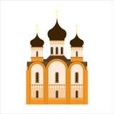 Απλό εικονίδιο της πλάγιας όψης Ορθόδοξων Εκκλησιών Στοκ Εικόνα