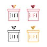 Απλό επίπεδο διάνυσμα κιβωτίων δώρων σχεδίου απεικόνιση αποθεμάτων